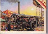 The Gladiator Traction Engine Greetings Card - Malcolm Root