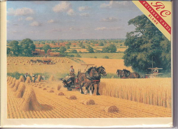 The Harvesting Horses Greetings Card - Robin Wheeldon