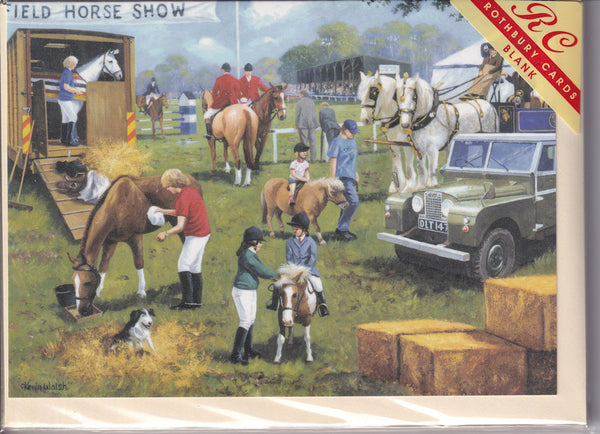 The Horse Show Greetings Card - Kevin Walsh