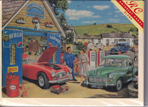 The Car Mechanic Greetings Card - Trevor Mitchell