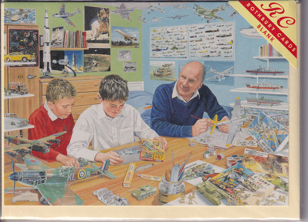 The Model Makers Greetings Card - Trevor Mitchell