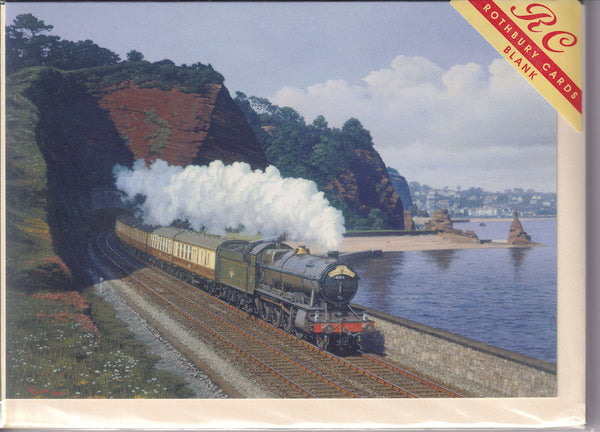 The Royal Duchy Steam Train Greetings Card - Malcolm Root