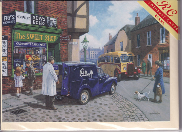 The Sweet Shop Greetings Card - Kevin Walsh