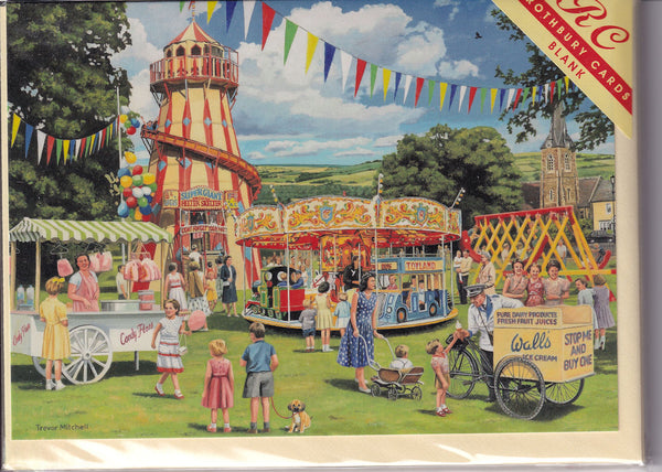 The Village Fair Greetings Card - Trevor Mitchell