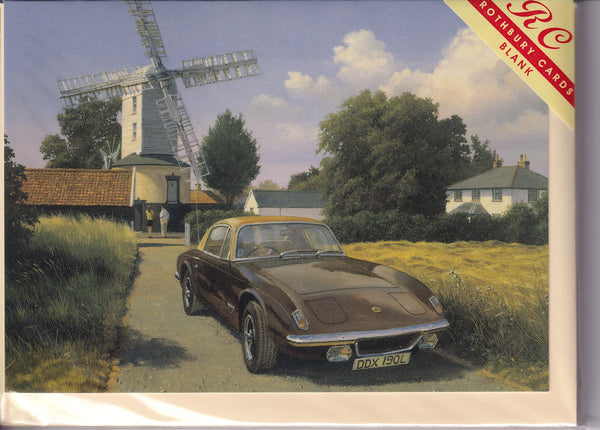 The Windmill And The Lotus Car Greetings Card - Malcolm Root FGRA