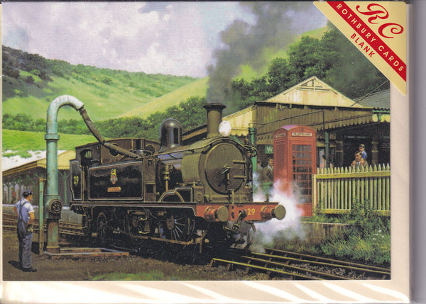 Topping The Steam Engine Tank Greetings Card - Malcolm Root