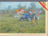 Tractor Daisy Cutting The Grass Greetings Card - Michael Herring