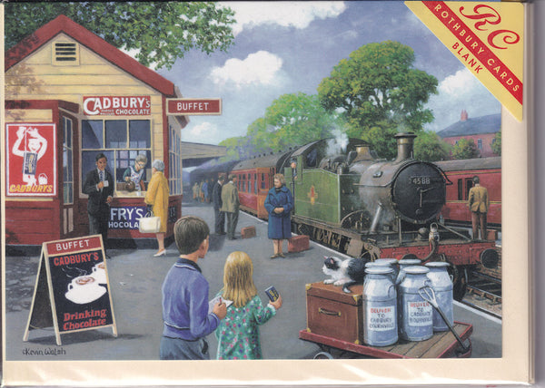 Train Station Buffet Greetings Card - Kevin Walsh