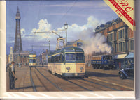 Trams Of Blackpool Greetings Card - Malcolm Root