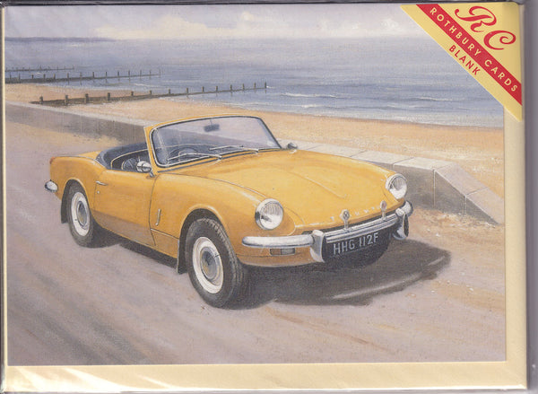 Triumph Spitfire Car On The Road Greetings Card - Kevin Walsh
