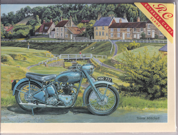 Triumph Thunderbird Motorcycle Greetings Card - Trevor Mitchell
