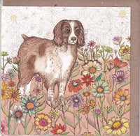 Spaniel Dog Greetings Card - Fay Miladowska