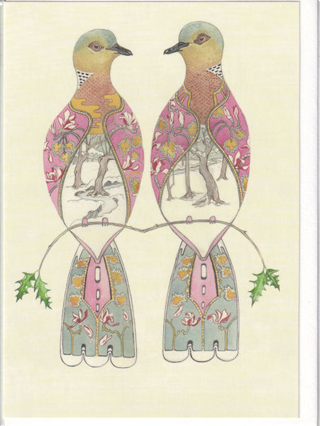 Two Turtle Doves Greetings Card - Daniel Mackie