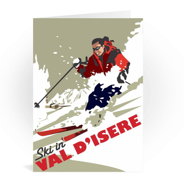 Ski In Val D'Isere France Greetings Card - Dave Thompson