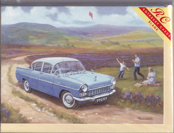 Vauxhall Cresta Car Flying The Kite Greetings Card - Kevin Walsh