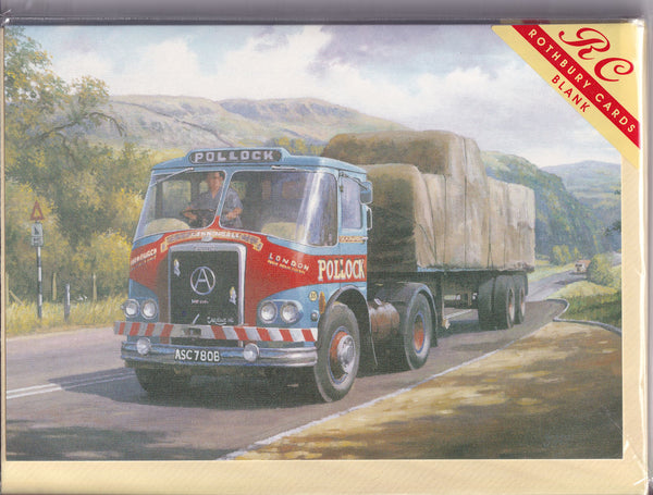 Vintage Pollock Lorry Over Cumbria Greetings Card - Mike Jeffries