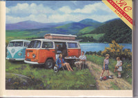 VW Campervans Life On The Open Road Greetings Card - Kevin Walsh
