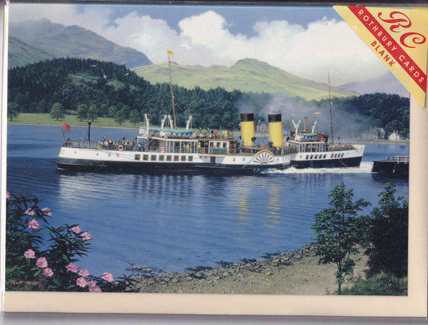 Waverley Paddle Steamer Ship Greetings Card - Malcolm Root