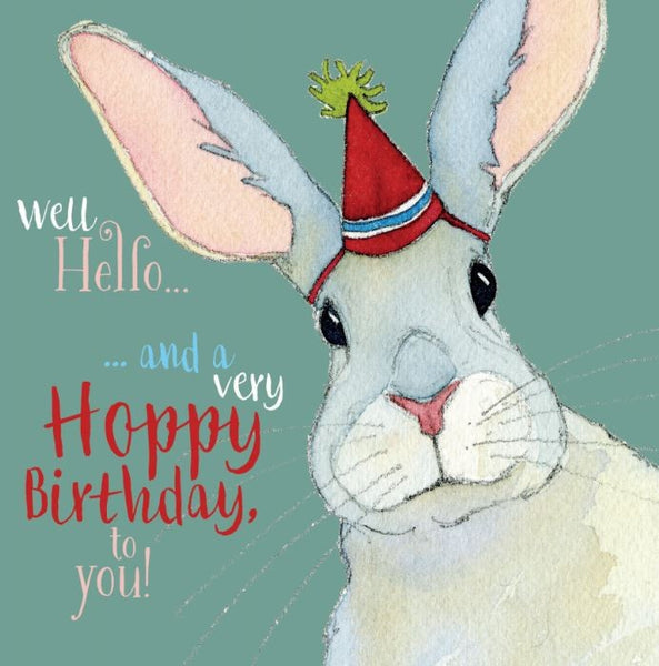 Well Hello...And A Very Hoppy Birthday To You! Birthday Card - Emma Ball
