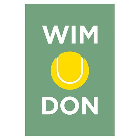 Wimbledon Tennis Greetings Card