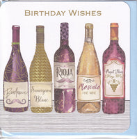 Wines Birthday Card - Nigel Quiney