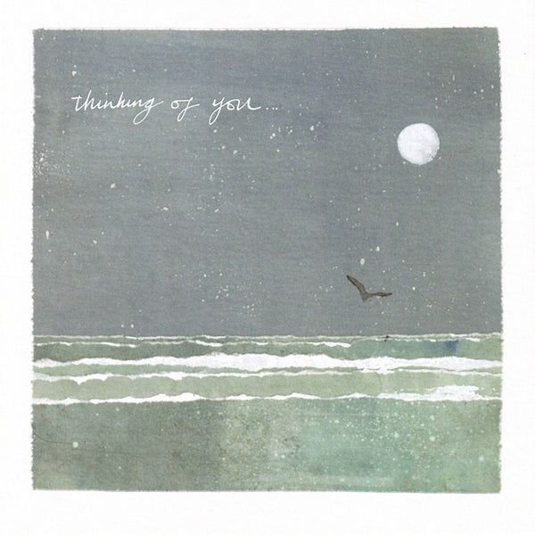 Moonlit Sea Thinking Of You Greetings Card - Susan Steggall