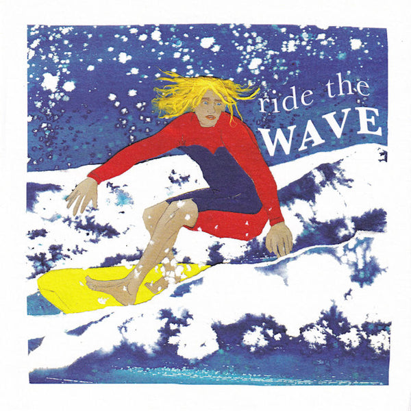 Surfing Ride The Wave Greetings Card - Susan Steggall