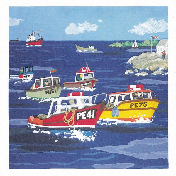 Motor Boats Greetings Card - Susan Steggall
