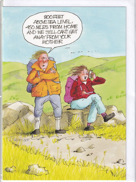 Mother On The Mobile Greetings Card - The Great Outdoors