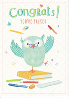 Congrats! You've Passed Greetings Card - Nigel Quiney
