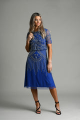 Saoirse Blue Beaded Dress