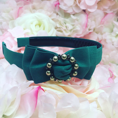 Mary Green Bow Hairband