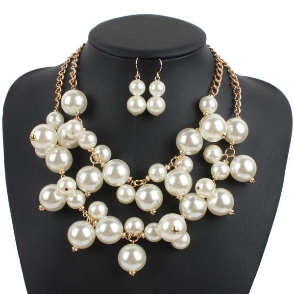 Nadia Two Strand Pearl Necklace