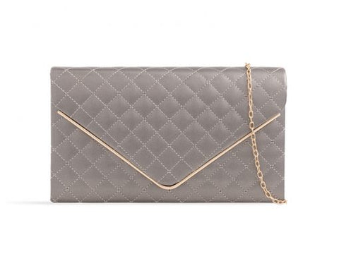Pewter Box Clutch