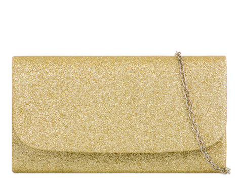 Gold Glitter Evening Bag
