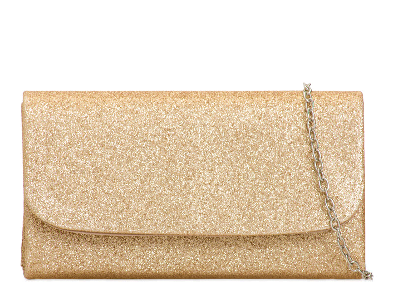 Pale Gold Glitter Evening Bag