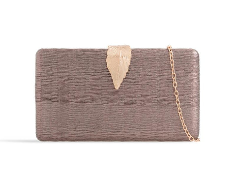 Pewter And Gold Box Clutch