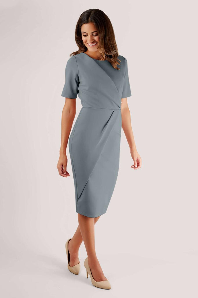 Eddie Pleat Detail Wrap Dress