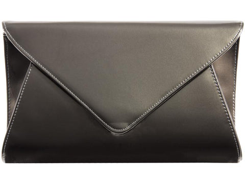 Pewter Patent Clutch