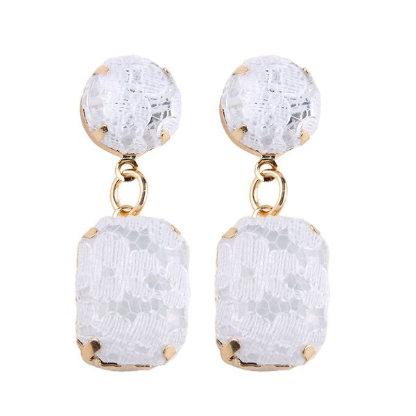 Off-White Lace Earrings