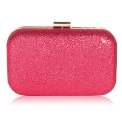 Fuchsia Glitter Clutch Bag