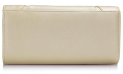 Ivory Flapover Clutch Purse