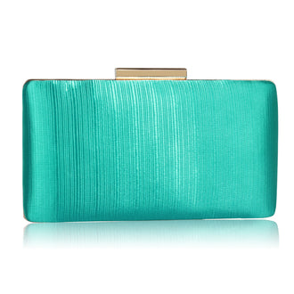 Emerald Satin Clutch
