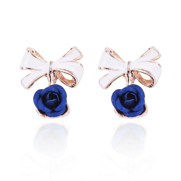 Blue Bow Detail Earrings
