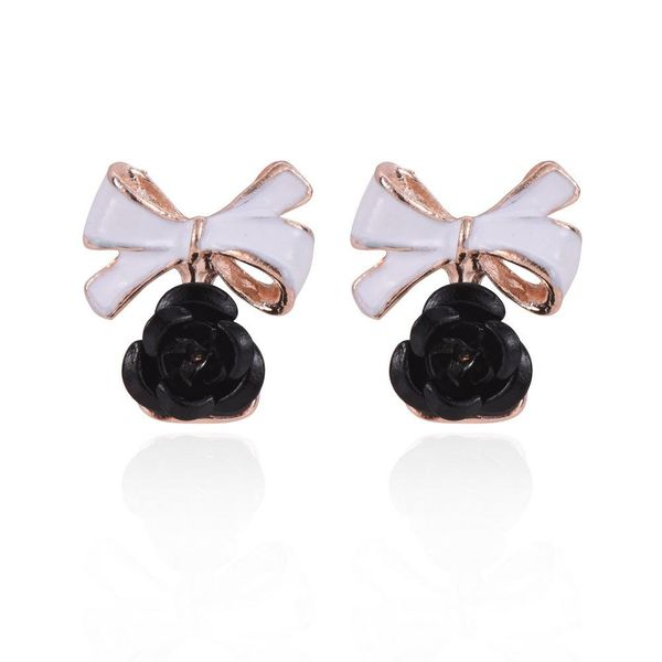 Black Bow Detail Earrings