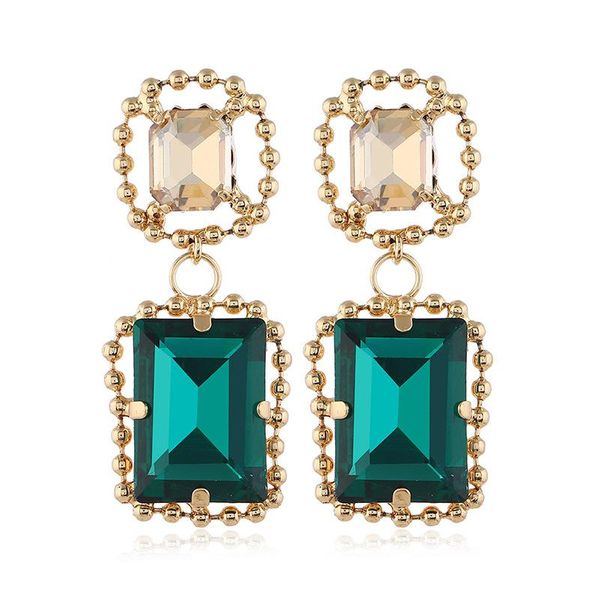 Emerald Two Stone Earrings