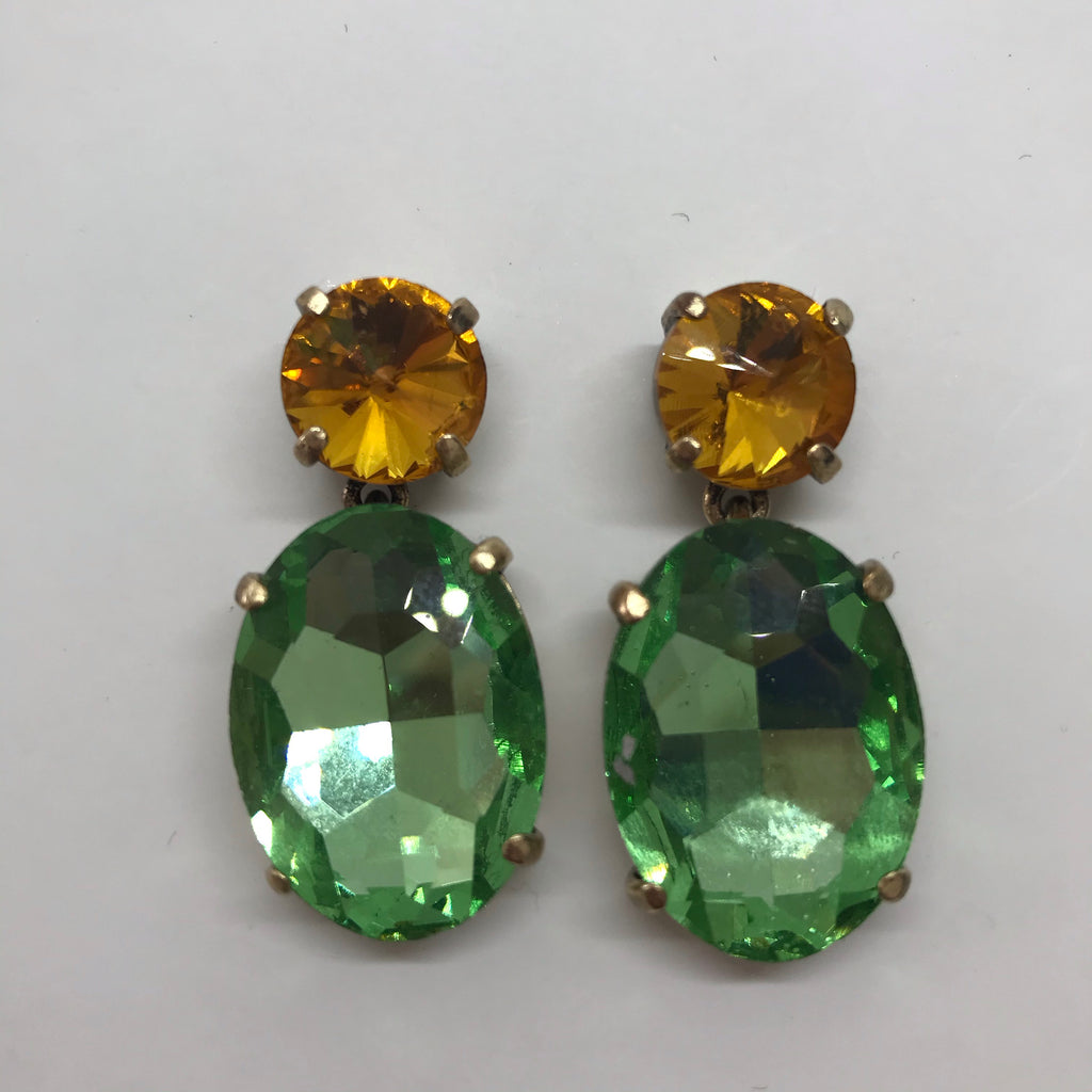 Lilia Green & Gold Earrings