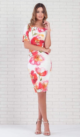 Casting Abigail Floral Pencil Dress