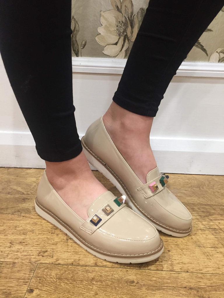 Julie Nude Loafer