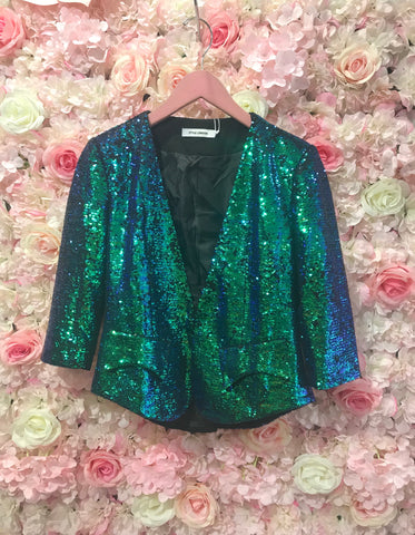 Sabrina Green Sparkle Jacket